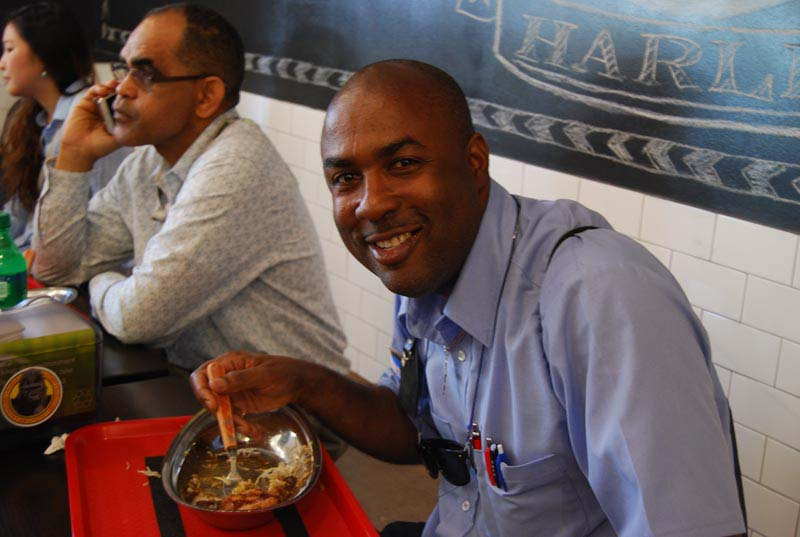 Satisified customer at Go! Go! Curry! Harlem